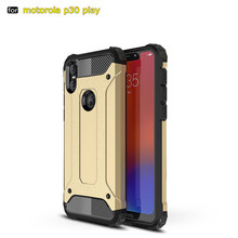 For Motorola Moto One P30 Play Phone Case Hybrid PC TPU 2in1 Silicone Shockproof Silm Hard Tough Rubber For Moto One Power Coque недорого