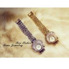 New Hot-Selling Quartz Watch High-End  Chain Full Rhinestone Female Fashion Custom Made