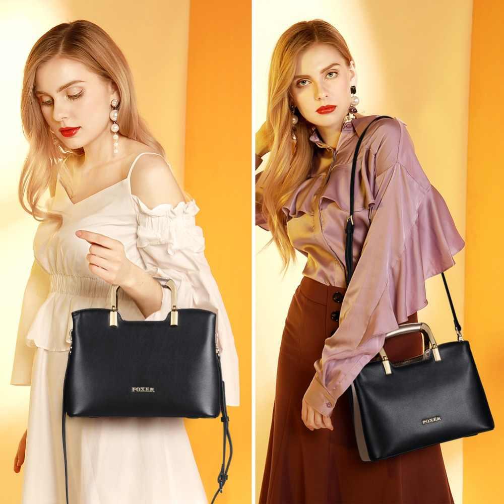 Foxer marca de grande capacidade mulheres lady chic totes feminino luxo dividir leathe sacos ombro bolsa feminina à moda sacos do mensageiro