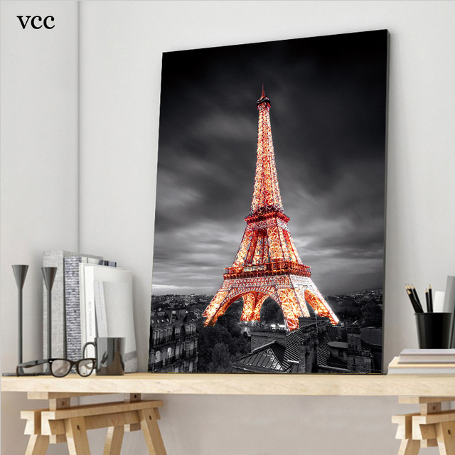 VCC Paris eiffel tower canvas painting wall pictures for living room cuadros home decor modern huge