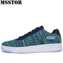 MSSTOR 2018 Canvas Shoes Men Skateboarding Shoes Man Brand Breathable Mesh Sport Shoes For Men Outdoor Athletic Walking Sneakers