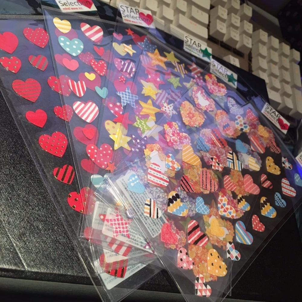 Цветочные Звезды И Сердца Мини Бумага Стикер Стикер Украшения Подарок DIY Альбом Альбом Журнал Поставки 1 Лист