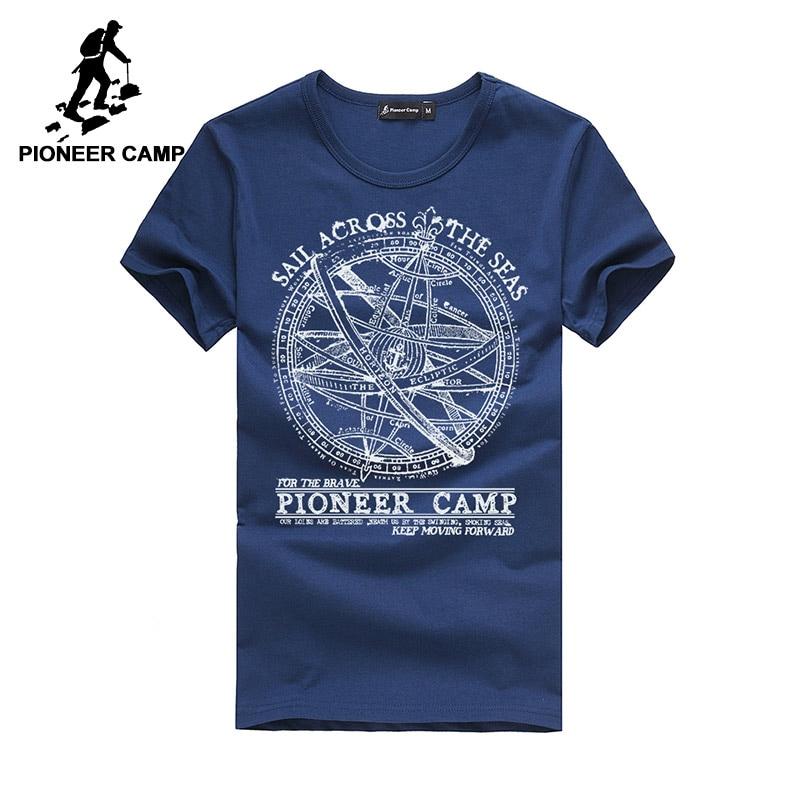 Pioneer Camp 2017 men t shirt men fashion brand design pretty cotton young white slim straight tshirts o-neck 405038