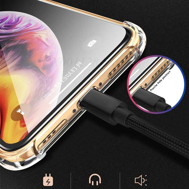 ソフトクリア透明ケース iPhone XS 最大 XR 6 s 6 s 8 プラス 7 × 10 ケースフル保護 TPU シリコン電話カバー Coque Fundas