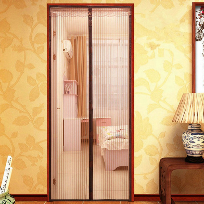 2018 New Magnetic Screen Door Anti Mosquito Tulle Lace Hands-Free Close Automatically Door Summer Design Mesh Net 90 x 210cm