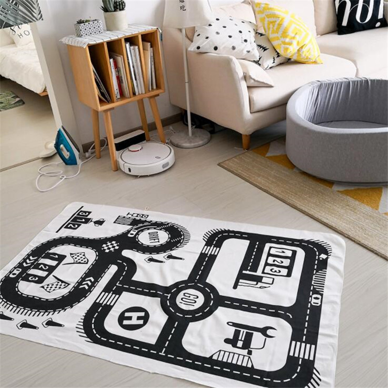 HTB1jsTnH1SSBuNjy0Flq6zBpVXaS Baby Play Mat Soft Crawling Rugs Car Track pattern Puzzles Learning Toy 90*140cm Nordic Style Kids Room Decoration Floor Carpet