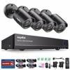 SANNCE 8CH 1080N DVR 720P CCTV System 4pcs 720P 1MP Security Cameras IR Outdoor IP66 Video