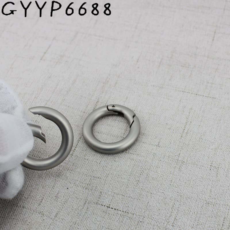 4pcs 50pcs 19mm Pearl Silver Snap Clip Trigger Spring Ring For Making Purse Bag Handbag Handle Connector Bag Parts Accessories