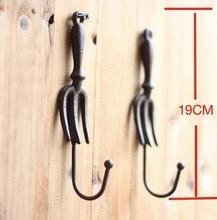 H:19 см Лофт промышленный Ретро Европейский садовый чугунный настенный крючок, крючки для одежды