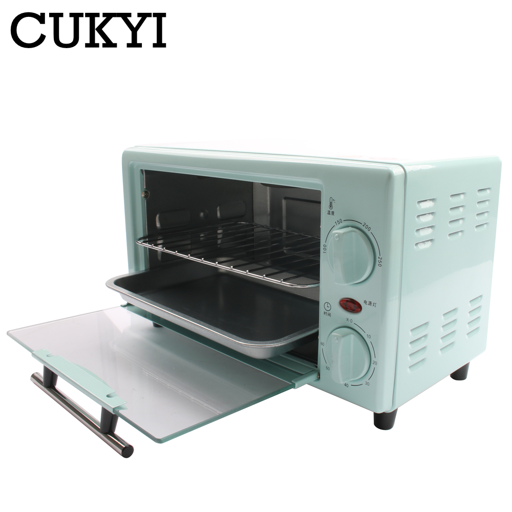 CUKYI Mini Electric Pizza And Bread Toaster Ovens Grill Bakery Oven For Baking Household Appliances For Kitchen Convection Oven