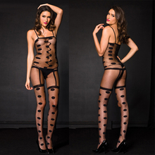 Sexy Lingerie hot Bodysuit Sexy Costumes Intimate Women Dot Bodystocking open crotch sex products erotic lingerie Chemises