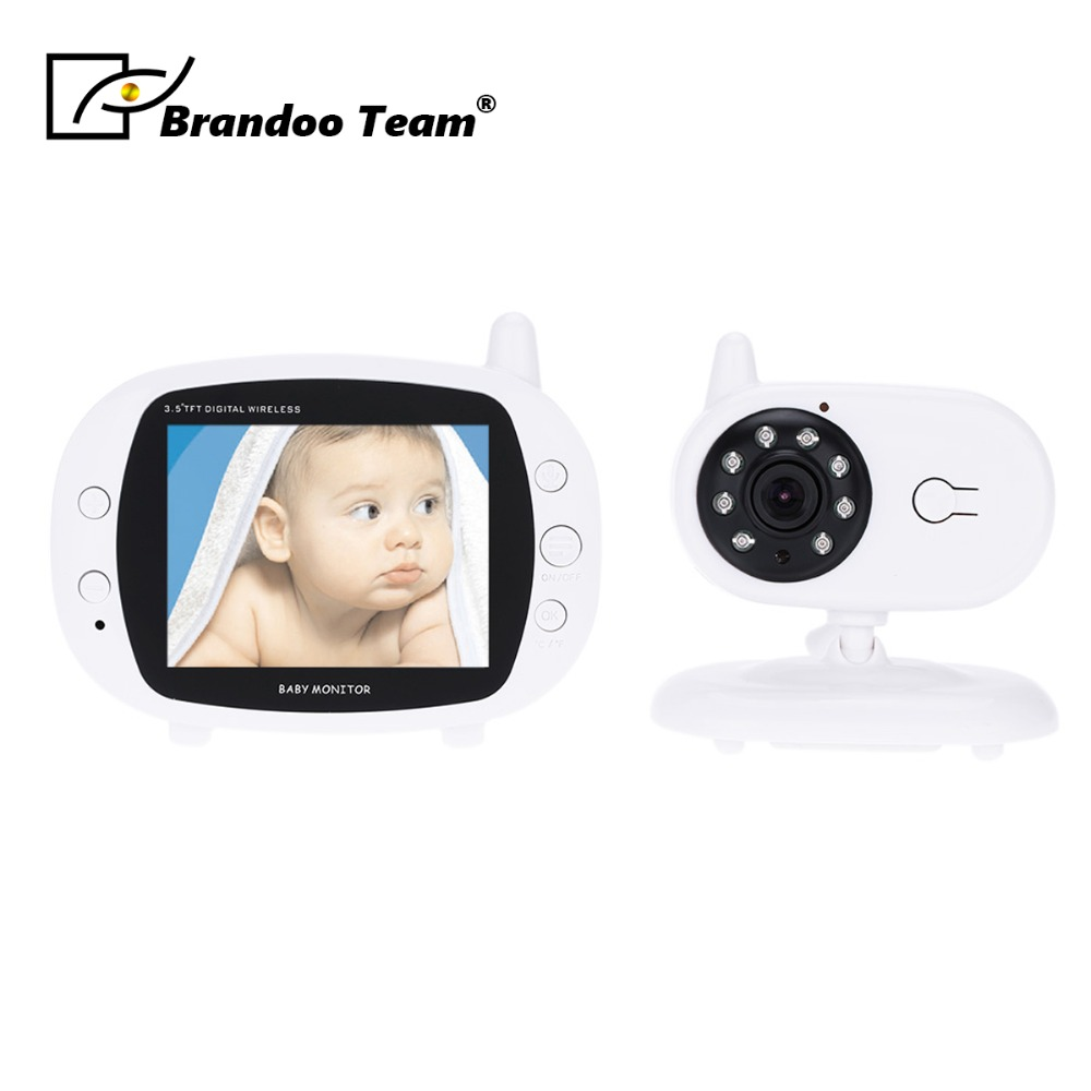 Video Baby Monitor 3.5 Inches LCD 2 Way Audio Talk Night Vision Surveillance Security Camera Babysitter wireless video baby monitor with camera night version two way talk video audio 2 lcd monitoring temperature security babysitter