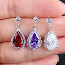Висячие серьги rongqing с цирконом подвески кристаллами для