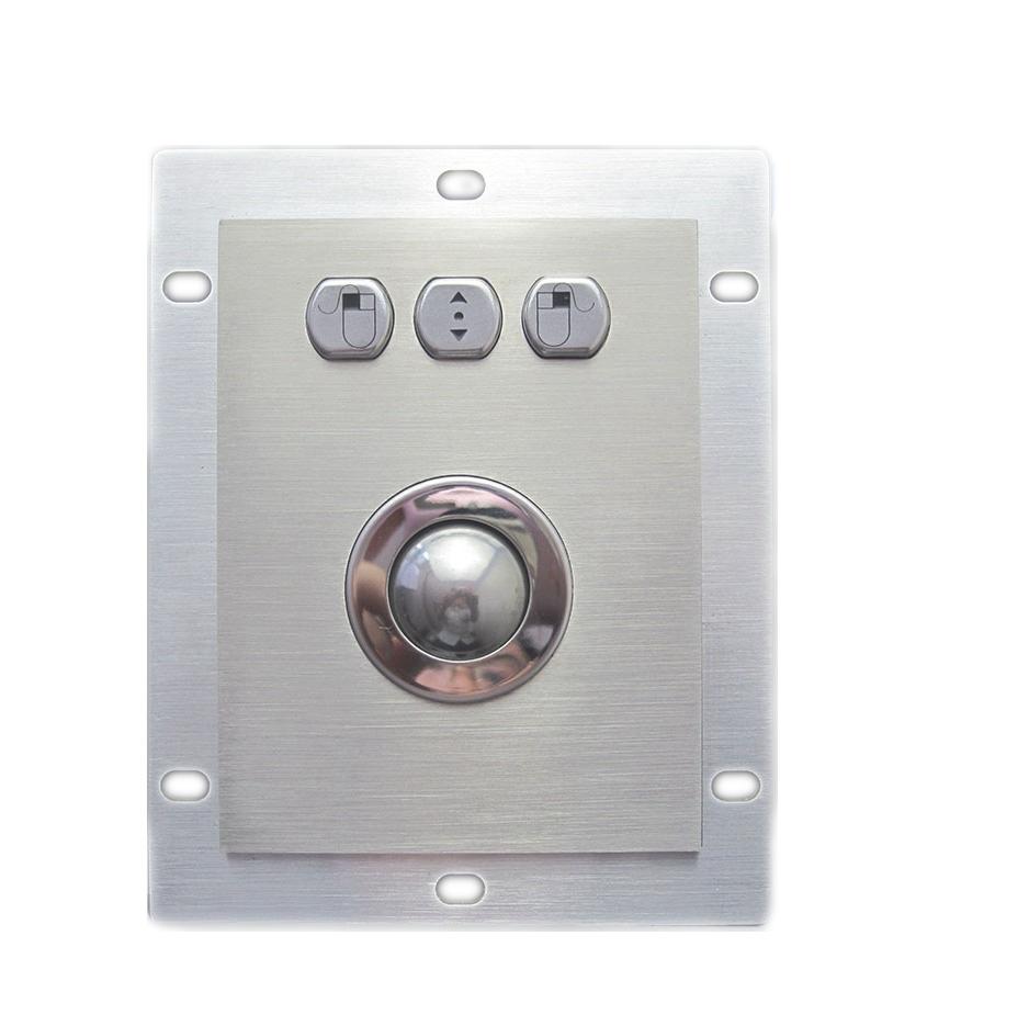 Prix pour Industrielle 25mm Métal Trackball Industriel Dispositif de Pointage avec 3 souris clé hexagonale bouton forme gauche droite moyen fonction