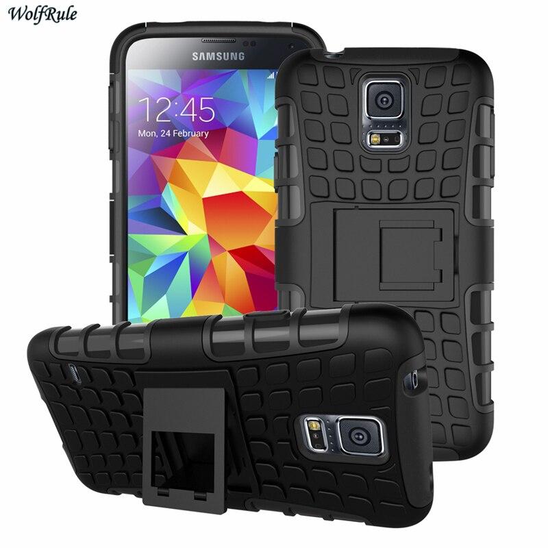 WolfRule Pour la Couverture Samsung Galaxy S5 Mini Cas Armure Cas de Téléphone Pour Samsung Galaxy S5 Mini Couverture Pour Samsung S5 mini Cas G800