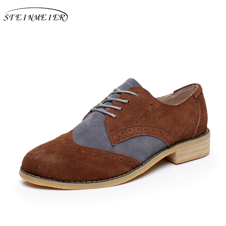 Vintage Brown Suede Oxford Shoes