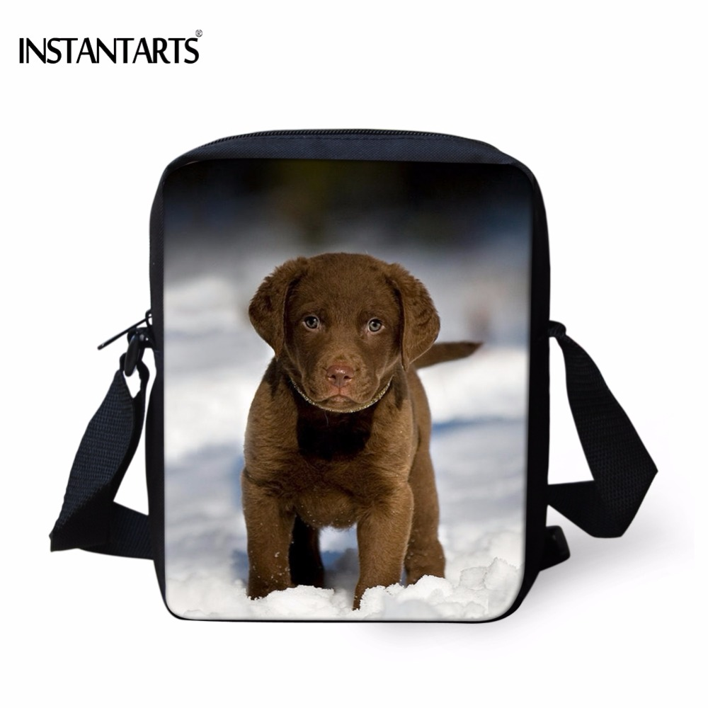 INSTANTARTS Lovely Chesapeake Bay Retriever Dog Print Kindergarten School Bags Mini Children Girls Satchels Baby Crossbody Bags