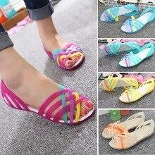 Women Sandals Cute Candy Color Women Shoes Female Sandalias Summer Peep Toe Beach Valentine Rainbow Jelly Melissa Shoes