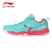 תמיכת יציבות Li-ning נשים נעלי בדמינטון נעלי ספורט המקורי אנטי להחליק ריפוד לנשימה נעלי ספורט לי נינג AYTM072