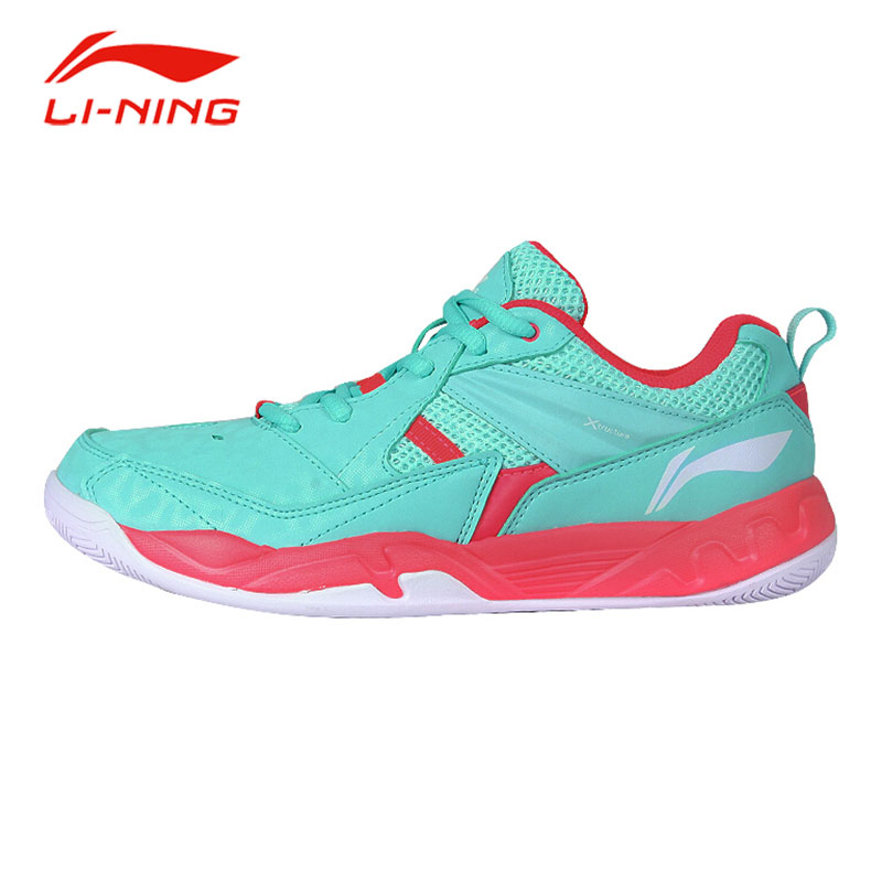 Li-Ning Women Stability Support Badminton Shoes Anti-Slip Breathable Cushioning Sneakers Original Li Ning Sports Shoes AYTM072 original li ning men professional basketball shoes