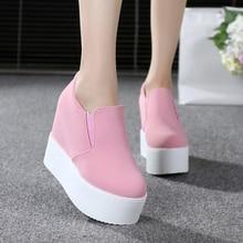 Women Vulcanized Shoes Casual Wedge Plat