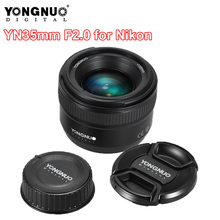 цена на YONGNUO YN35mm F2.0 F2N Lens YN35mm AF/MF Focus Lens for Nikon F Mount D7100 D3200 D3300 D3100 D5100 D90 DSLR Camera YN35mm Lens