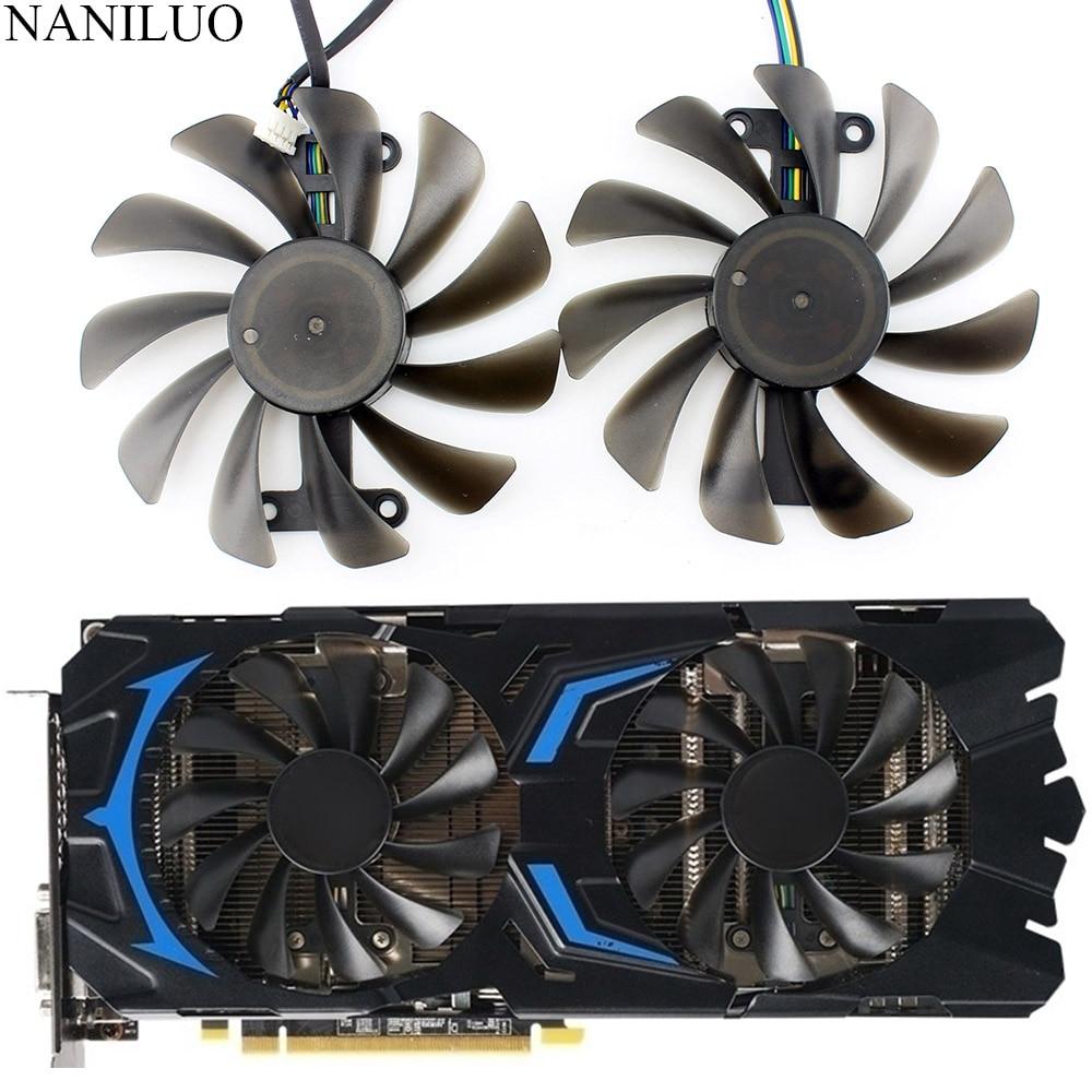 2pcs/set P106 GTX 1060 GPU VGA cooler For MSI GeForce GTX1060 GTX