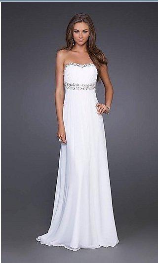 White Empire Prom Dresses