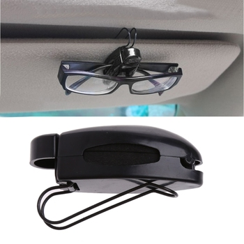 1Pc samochodowa osłona przeciwsłoneczna zacisk mocujący do okularów do czytania okulary przeciwsłoneczne karta okularowa Drop shipping tanie i dobre opinie wupp Plastic Car Glasses Clip Car visor holder Car Sun Visor