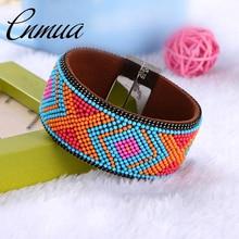 Retro National Style Bead Bangle Brazilian Multicolor Geometry Bracelets & Bangl