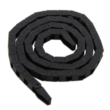 Black Plastic Nylon Cable Carrier Drag Chain Towline Nested Wire Carriers 7*7mm For CNC Machine Tool Electronic Equipment Mayitr free shipping 65 150 10 meters fully enclosed type plastic towline cable drag chain wire carrier with end connects for machine