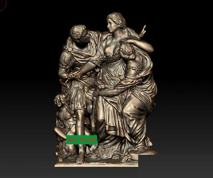 New model 3D model for cnc or 3D printers in STL file format Arria and Paetus christian cross 3d model relief figure stl format religion 3d model relief for cnc in stl file format