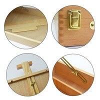 Adjustable Sketchbox Desktop Art Large Paint Palette Accessories Wooden Table Easels Drawing Suitcase Portable Painting Hardware