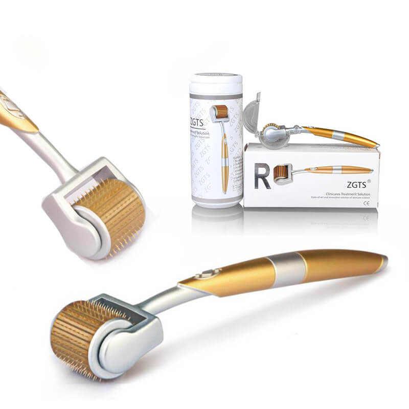 Professional Titanium ZGTS Cosmetic 0.2/0.25/0.3mm 192 Titanium Micro Needles Derma Roller for Facial Nose Body Skin Care