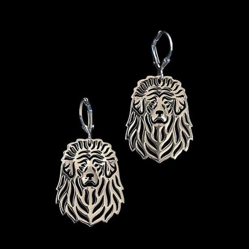 2018 Hot Sale Womens Alloy Dog Earrings Metal Tibetan Mastiff Jewelry Earrings For Lovers Drop Shipping