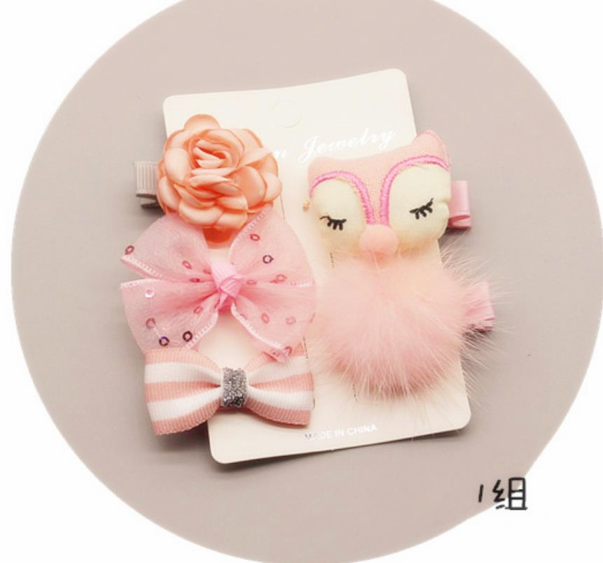 Cute rabbit Flowers Bowknot Hairpins Children Cartoon Hair Clips Kids Girls Handmade Barrettes Accessories Headwear TZ6
