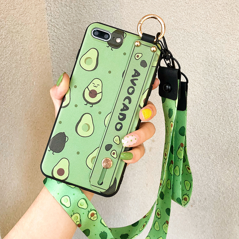 HTB1jsW1clGw3KVjSZFwq6zQ2FXaH SoCouple Phone Holder Case For iphone XR X Xs max 11 Pro Max 7 8 6 6s plus Fruit Avocado Soft TPU Neck Wrist Strap Lanyard Case