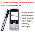 For Nokia 6300 Brandnew Mobile Phone Full Housing + motherboard + LCD display include Full Phone Accessories