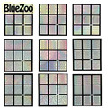 BlueZoo 22 Листов Выдалбливают Шаблон Ногтей Наклейки Лазерной Звезды Колеса Треугольник Pattern Ногтей Наклейки 22 Конструкции Nail Art