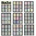 BlueZoo 22 Hojas Del Clavo Hueco Hacia Fuera Pegatinas Plantilla Láser Rueda de Estrella Triángulo Patrón de Etiqueta Engomada Del Clavo de 22 Diseños de Uñas de Arte