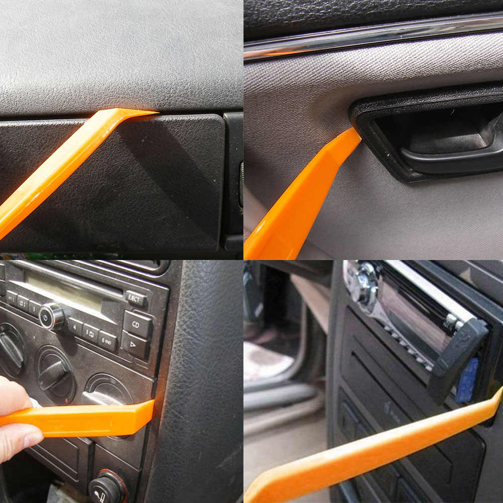 4pcs car safty tool Auto Car Radio DVD Refit Door Clip Panel Trim Dash  Audio Removal Installer Pry Tool Repair Disassembly Kits