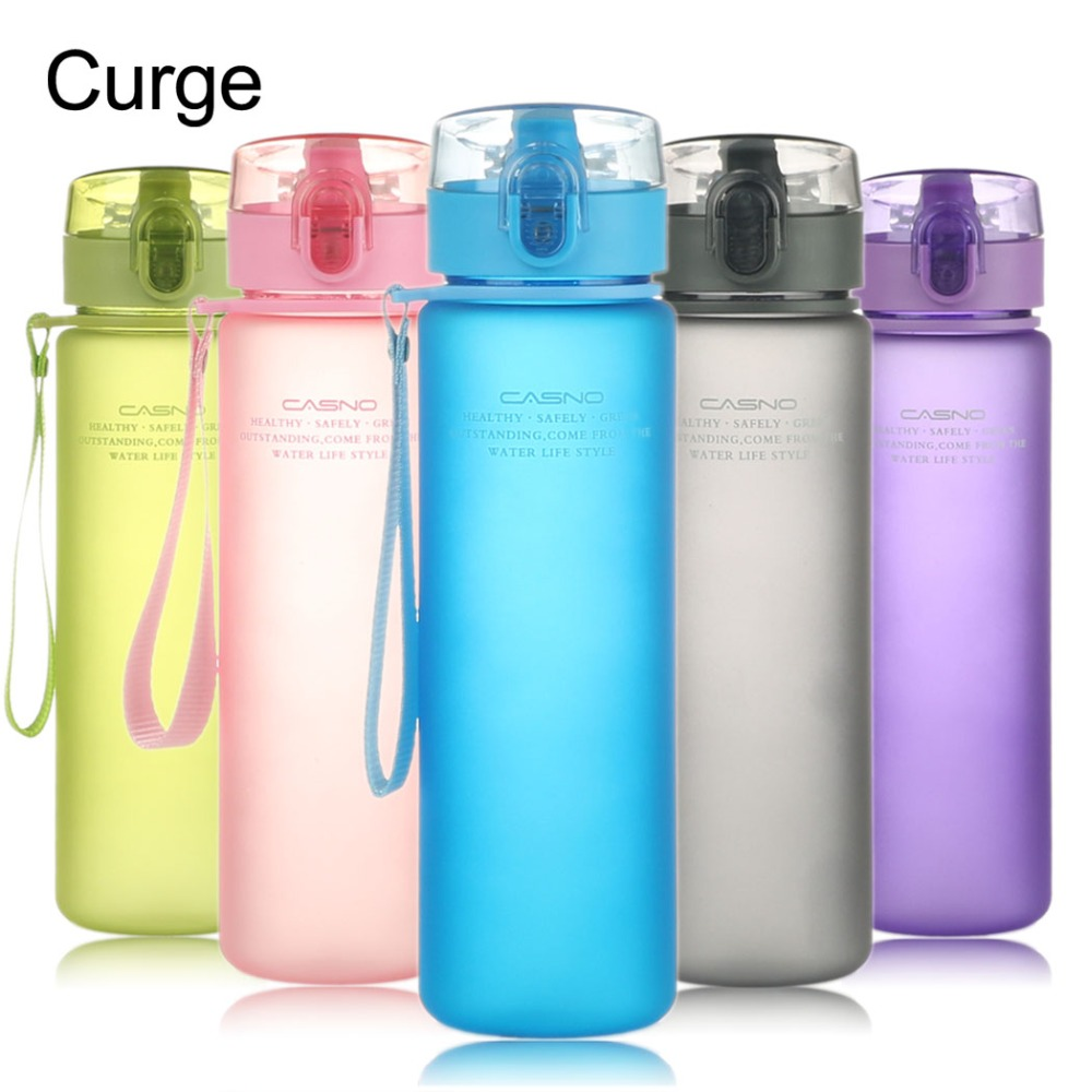 Water Bottle Gourde Sport BPA free Plastic Drinking Bottle for Water School Drinkware-in Water Bottles from Home & Garden on AliExpress