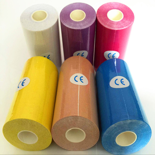 11 cores (4 inch) 10 cm * 5 m fita kinesio taping cinesiologia cola adesiva Bom tex água bandagem adesiva resistente CE & FDA Aprovado
