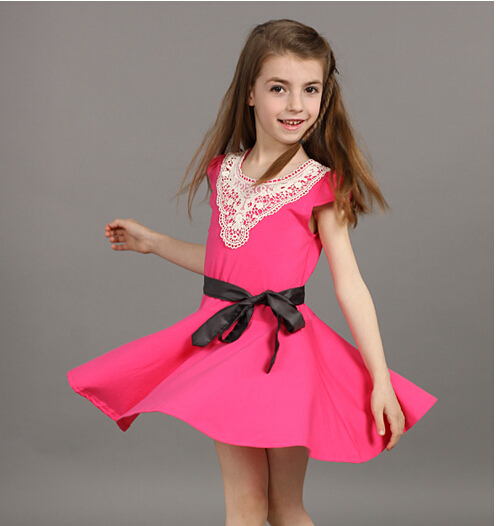 d91c2f143 Kids Summer 2015 dress girl child models girls big virgin princess ...