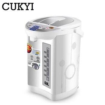 CUKYI distributeur d'eau potable sans réservoir Machine à eau chaude verticale Mini distributeur d'eau de bureau bouilloire électrique 220 V EU plug