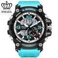 2017 Luxury Brand Smael Sport Watch Men LED Analog Digital Watch Swim Style Army Military Watches Men's Casual Quartz Wristwatch