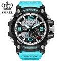 2017 marca de lujo smael sport reloj de los hombres led analógico digital reloj de natación estilo militar del ejército relojes cuarzo de los hombres casuales reloj de pulsera