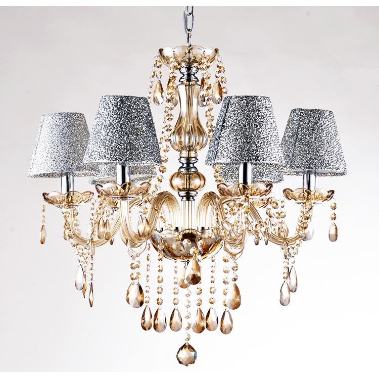 christmas hot sales crystal lighting 6light chandelier bedroom light restaurant lamps modern crystal - Modern Crystal Chandeliers