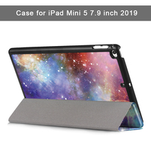 Case for iPad Mini 5 2019 PU Smart Cover with Auto Sleep/Wake 7.9 inch PC protective shell For A2133,A2124,A2126