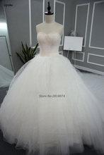 Real Photo 2017 Robe De Mariage Wedding Dress Ball Gown Noble White Sweetheart Custom Made Vestidos De  Novia Bridal Gown